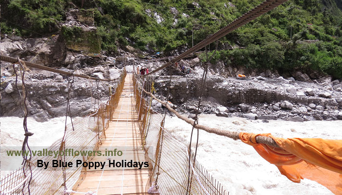 The Bridge over Alaknanda at Govindghat.