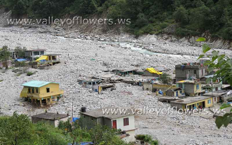 Pulna village after the floods in Uttrakhand