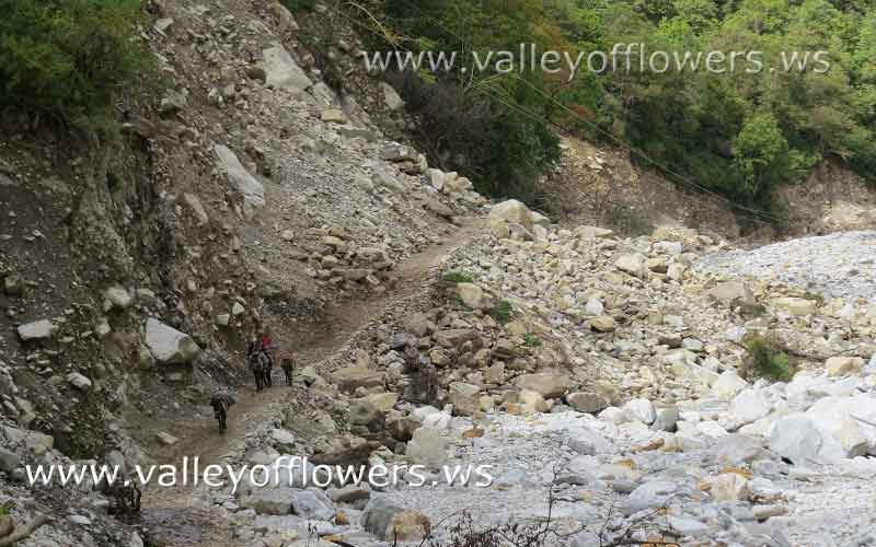 New trek between Govindghat and Ghangaria