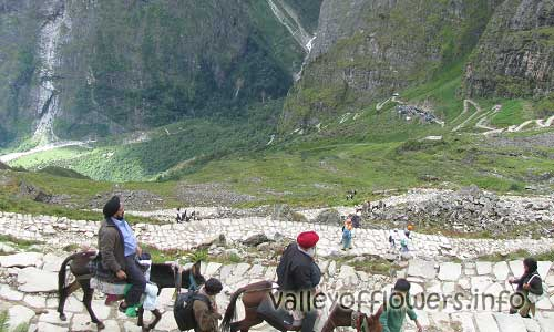 Ghangaria to Hemkund Sahib Trek is bit steep. Almost 1 km altitude is to be gained by trekking for about 6 kilometers.