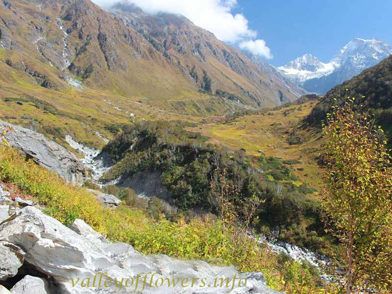 Beautiful view of Valley of Flowers after the construction of trek