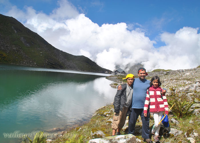 Me, My Father and sister near Hemkund Saheb